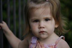 Twee éénjarigenmeisje Stock Foto