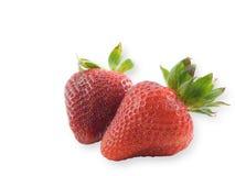 Twee Aardbeien Stock Foto's