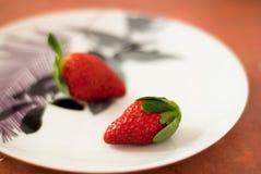 Twee aardbeien Royalty-vrije Stock Foto's