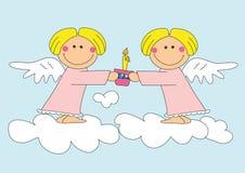 Twee aardige engelen stock illustratie