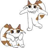 Twee aardige katten stock illustratie