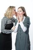 Twee aardige meisjes samen Stock Foto's
