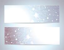 Twee Abstracte bannersachtergronden Stock Fotografie