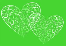 Twee abstracte harten. Stock Foto