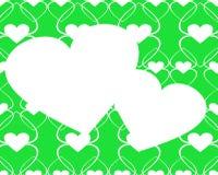 Twee abstracte harten. Royalty-vrije Stock Fotografie