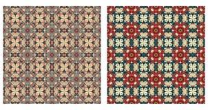 Twee abstracte naadloze patronen Royalty-vrije Stock Afbeelding
