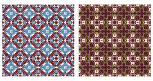 Twee abstracte naadloze patronen Royalty-vrije Stock Fotografie