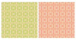 Twee abstracte naadloze patronen Royalty-vrije Stock Afbeeldingen