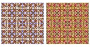 Twee abstracte naadloze patronen Stock Afbeelding