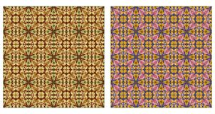 Twee abstracte naadloze patronen Stock Foto's