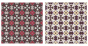 Twee abstracte naadloze patronen Stock Foto
