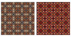 Twee abstracte naadloze patronen Stock Fotografie