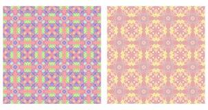 Twee abstracte naadloze patronen Royalty-vrije Stock Foto