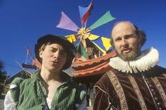 Twee Actoren bij de Renaissance Faire, Agoura, Californië royalty-vrije stock fotografie