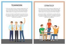 Twee Affiches Vectorillustratie van het Strategiegroepswerk stock illustratie