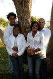 Twee Afrikaanse Amerikaanse paren Stock Foto's