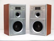 Twee akoestische systeemdozen Royalty-vrije Stock Afbeeldingen