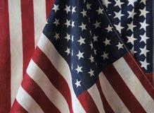 Twee Amerikaanse vlaggen royalty-vrije stock afbeelding