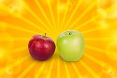 Twee appelen Stock Foto's