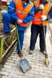 Twee arbeiders Stock Foto's