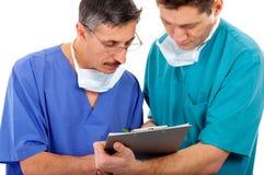 Twee artsen Stock Afbeelding