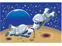 Twee astronauten Stock Afbeelding