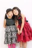 Twee Aziatische meisjes Royalty-vrije Stock Afbeelding