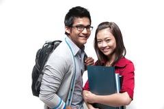 Twee Aziatische studenten Royalty-vrije Stock Afbeelding