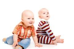 Twee babys Stock Afbeeldingen
