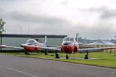 Twee BAC Jet Provost stock foto