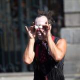 Twee ballen als ogen voor een clown. Royalty-vrije Stock Afbeelding