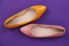 Twee Ballerinaschoenen stock foto's