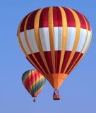 Twee Ballons van de Hete Lucht Stock Fotografie