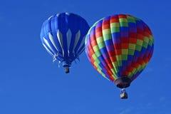 Twee Ballons van de Hete Lucht Stock Foto