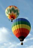 Twee Ballons van de Hete Lucht Royalty-vrije Stock Afbeeldingen