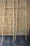 Twee bamboeladders Royalty-vrije Stock Afbeeldingen