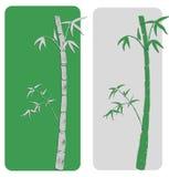 Twee bamboeprentbriefkaar Stock Afbeeldingen