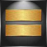 Twee banners Stock Foto's