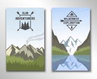 Twee banners met het beeld van aard vector illustratie
