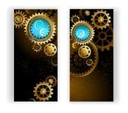 Twee banners met toestellen Stock Afbeelding