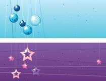 Twee banners van Kerstmis Royalty-vrije Stock Fotografie
