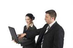 Twee bedrijfsmensen Stock Afbeelding