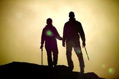 Twee bergbeklimmers stock fotografie