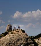 Twee Bergbeklimmers worden Voorbereidingen getroffen stock foto's
