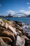 Twee beste attrection van de wereld` s toerist, Sydney Opera House en Royalty-vrije Stock Foto