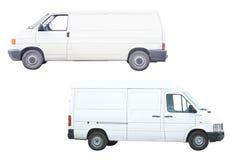 Twee bestelwagens Stock Foto's