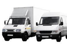 Twee bestelwagens Royalty-vrije Stock Fotografie