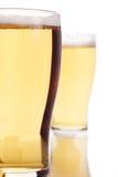 Twee bieren Royalty-vrije Stock Afbeeldingen