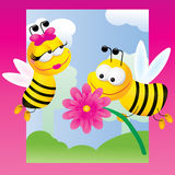 Twee bijen Stock Fotografie