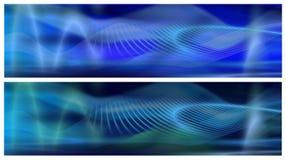 Twee Blauwe Banners Royalty-vrije Stock Afbeeldingen
